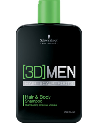 3D Men Hair & Body Shampoo 250ml