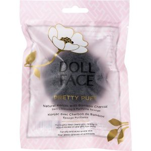 Doll Face Pretty Puff Bamboo Charcoal Clarifying Sponge, Doll Face Kasvoharjat