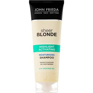 John Frieda Sheer Blonde Highlight Activating Moisturising Shampoo, For Lighter Blondes, 250 ml John Frieda Shampoo
