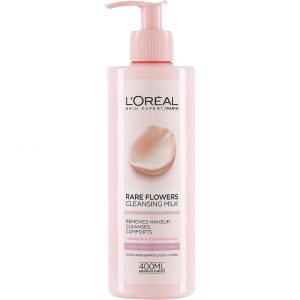 L'Oréal Paris Rare Flowers Cleansing Milk Dry/Sensitive, 400 ml L'Oréal Paris Kasvojen puhdistus