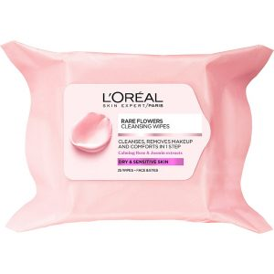 L'Oréal Paris Rare Flowers Cleansing Wipes Dry/Sensitive Skin, L'Oréal Paris Kasvojen puhdistus