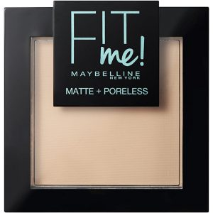 Maybelline Fit Me Matte + Poreless Powder, 9 g Maybelline Puuteri