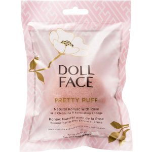 Doll Face Pretty Puff Rose Konjac Cleansing Sponge, Doll Face Kasvoharjat