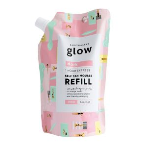 Glow Express Tan Mousse Refill – Dark, 200 ml Australian Glow Itseruskettavat