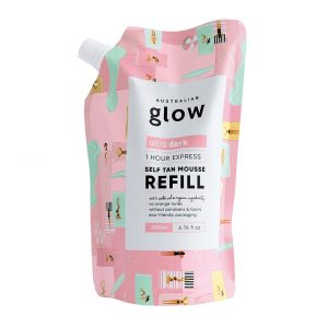 Glow Express Tan Mousse Refill - Ultra Dark, 200 ml Australian Glow Itseruskettavat